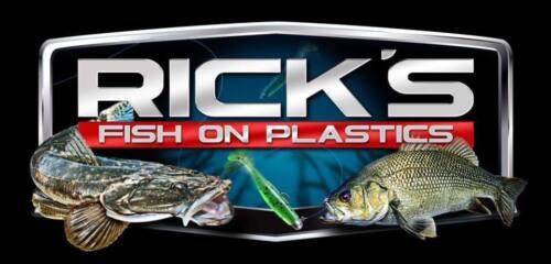 """WASABI Green RICK/'S FISH ON 2.5/""""//6.5cm CURLY TAIL GRUB Soft Plastics"""