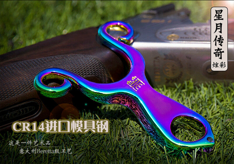 Hunting Alloy Chrome Stainless Steel Slingshot High Velocity 440c Polishing Body