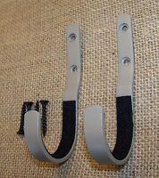 Wall mount gun rack rifle shotgun hanger felt lined Hand made hooks storage