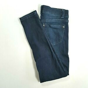WIT-amp-WISDOM-Womens-Shaping-Mid-Rise-SKINNY-Jeans-Dark-Wash-Size-2-SHORT
