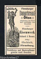 Flensburg Reinhardt & Messmer Ofenfabrik 1898 Reklame (77) advertising