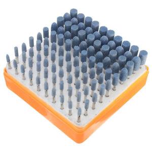 100-tlg-Schleifstifte-Schaft-3MM-Schleifstein-Schleifkoerper-fuer-Bohrmaschine