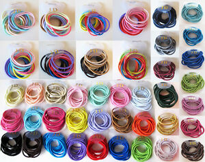 12-Girls-High-Quality-Thick-Endless-Snag-Free-Hair-Elastics-Bobbles-Bands-Ponios