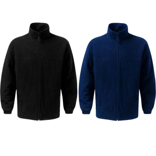 New Men/'s XXL Ladies Thick Quilted Padded Warm Anti Pill Fleece Jacket S