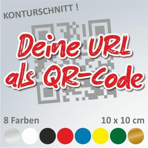 QR-Code mit eigener Webadresse URL Autoaufkleber Sticker Aufkleber 10 x 10 cm