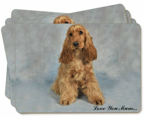 AD-SC6lymP Red Cocker Spaniel /'Love You Mum/' Picture Placemats in Gift Box