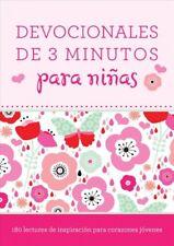 Devociones de 3 Minutos para Niñas : 180 Lecturas de Inspiración para Corazones Jóvenes by Compiled by Compiled by Barbour Staff (2017, Paperback)