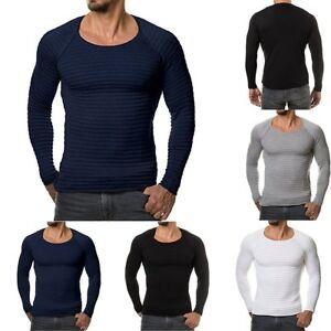 FASHION-Uomo-Slim-Fit-O-collo-manica-lunga-Muscle-Tee-T-shirt-Casual-Tops-camicetta