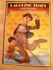 CHARLIE CHAPLIN LIVES-LAUGHING TIMES   ASIAN CINEMA POSTER - ORIGINAL