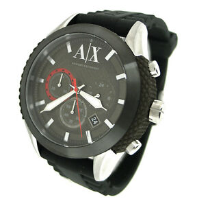 NEW-ARMANI-EXCHANGE-CHRONOGRAPH-50M-SILICONE-RUBBER-MENS-WATCH-AX1224