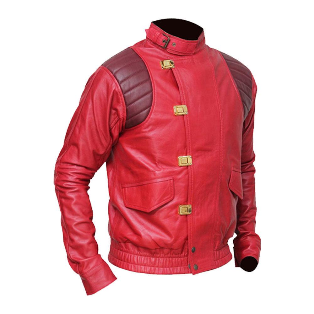 AKIRA KANEDA Rosso Similpelle  moda Herren Giacca alla moda  - ALL MISURA Are DISPONIBILE b775ae