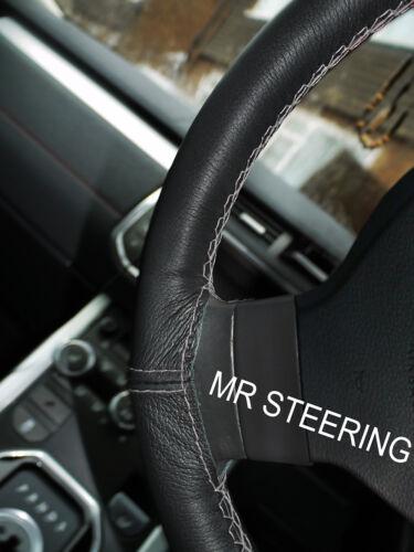 Pour 2000-2007 mercedes W203 vrai volant en cuir couverture gris double stitch