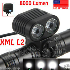 Front Bicycle Headlamp 8000Lumen 2x CREE XM-L2 LED Cycling Bike light Headlight