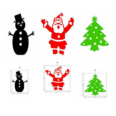 Christmas Stickers Father Christmas (santa) Snowman - Christmas Tree - Diy Cards Sterke Verpakking