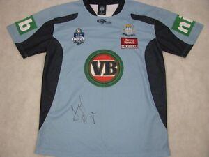best loved c3ef3 090d8 Details about JARRYD HAYNE Hand Signed NSW State Of Origin Jersey + Photo  Proof