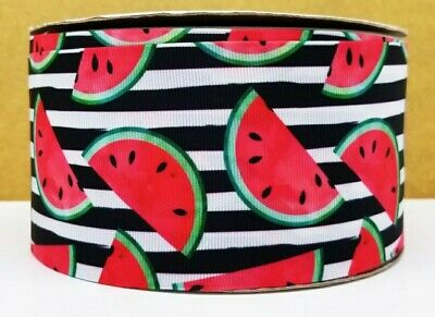 "Sandía de Cinta de Grogrén 1m X 25mm Ancho fruta de cumpleaños Cabello Arcos Craft 1/"""