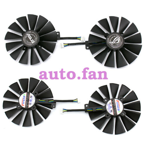 1set For ASUS DUAL RX470 //RX570 RX580 GTX1080Ti 1070Ti Cooling Fan 12V 0.25A