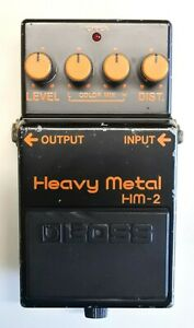 BOSS-HM-2-Heavy-Metal-Guitar-Effects-Pedal-made-in-Japan-1984-281-Free-Shipping