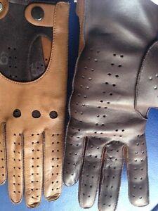 outlet for sale fashion style fashion styles Détails sur Gant conduite auto moto femme cuir marron & caramel vintage 70
