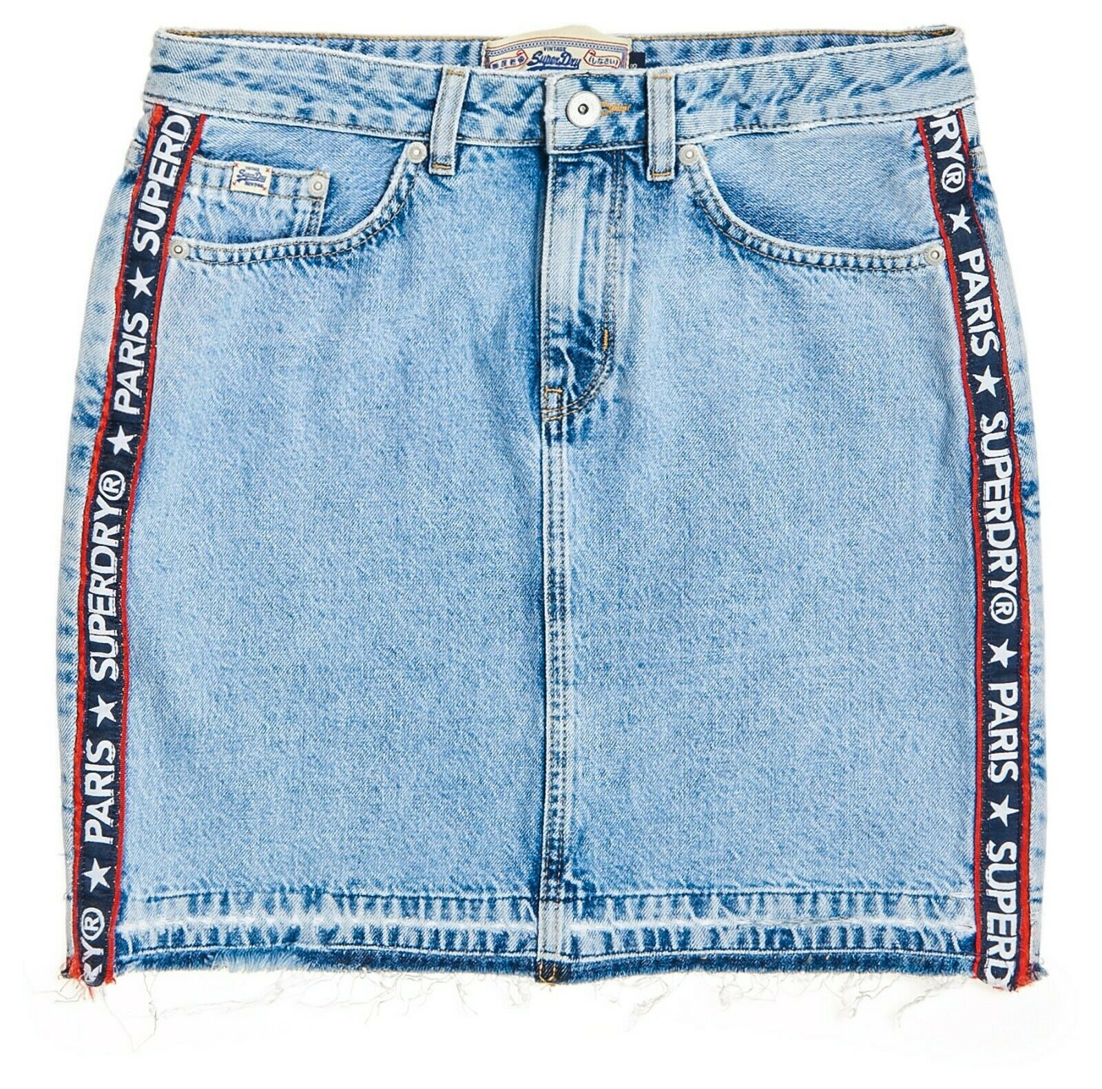 huge discount 46191 fad8d SUPERDRY Blau Pure SKIRT MINI DENIM 17540vjdq91625-Röcke ...