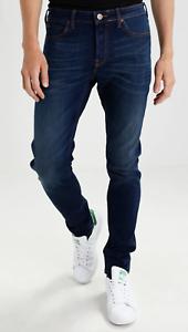 """Herren Lee Malone Skinny Stretch Fit Jeans """"Bright Blue"""" B-Ware l212"""