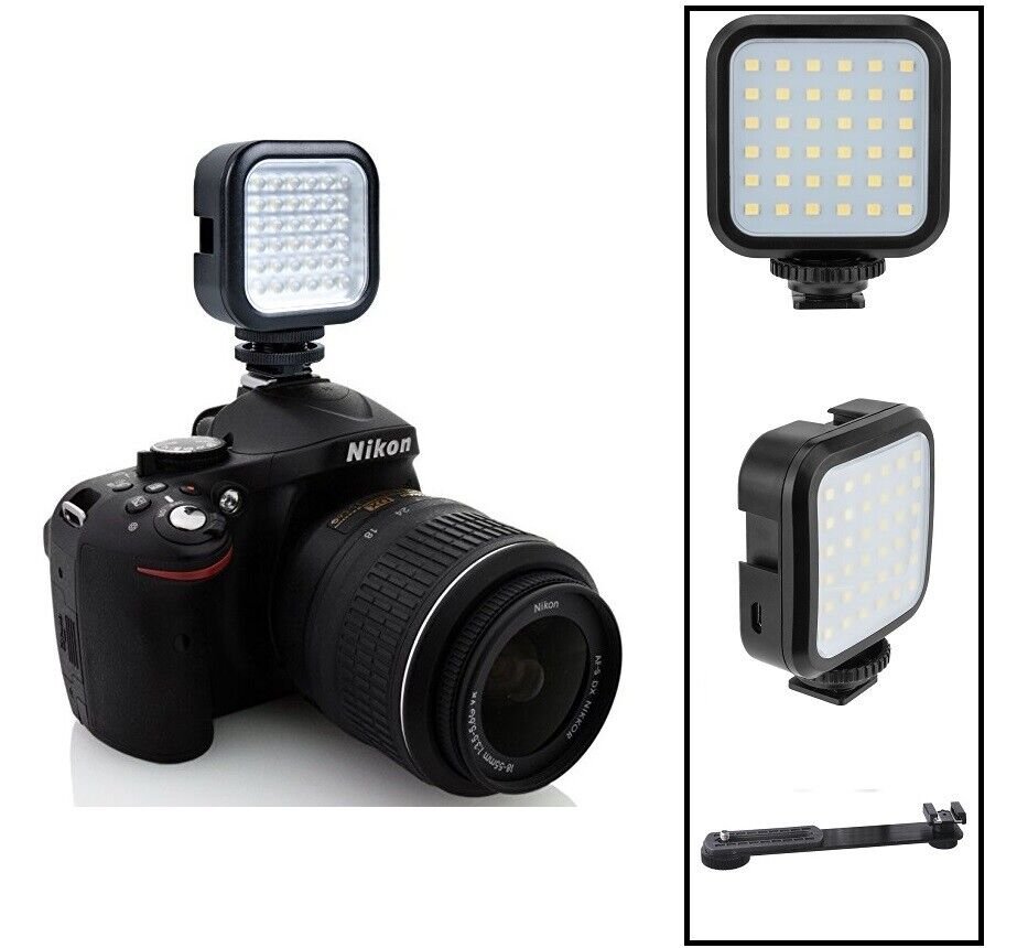 Pro Compact LED Light Kit With Power Set For Canon EOS M6 M50