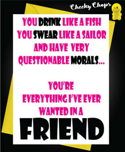 Great Image Is Loading Best Friend Bestie Funny Rude Swearing Birthday Card