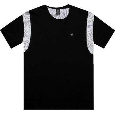 Clothing, Shoes & Accessories Men's Clothing Amicable Crooks And Castles Stripe Waves Black T Shirt Cc730714blk 100% Guarantee