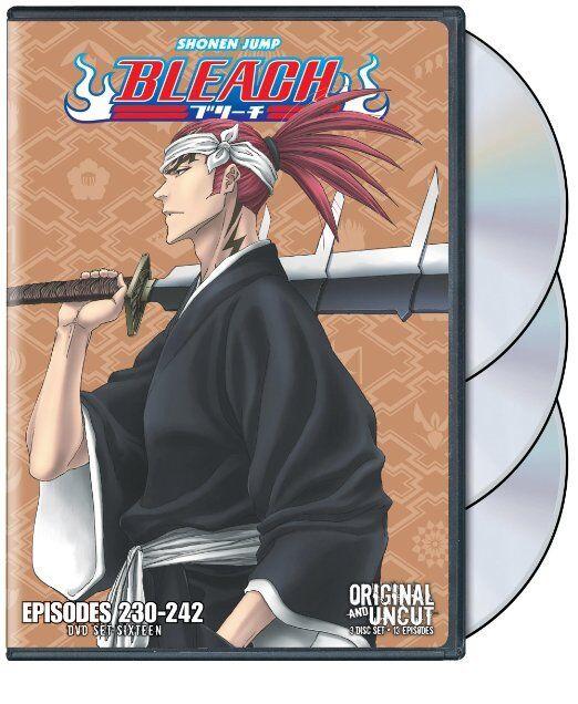 Bleach Uncut Box Set, Vol. 16 (DVD, 2013, 3-Disc Set) NEW