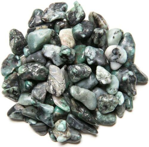 Grade 2 XSmall Polished Craft Rocks Reiki 3 lb Emerald Tumbled Stones