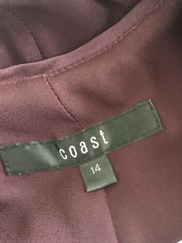à 14 Taille volants Détails Coast Dress Purple Aubergine Occasion wCOx7q0SZ
