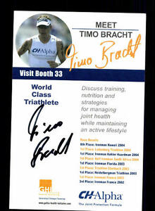 Timo Bracht Autogrammkarte Original Signiert Triathlon + A 134056