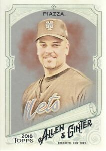 Details About 2018 Topps Allen Ginter Baseball Card 97 Mike Piazzanew York Mets Catcherm
