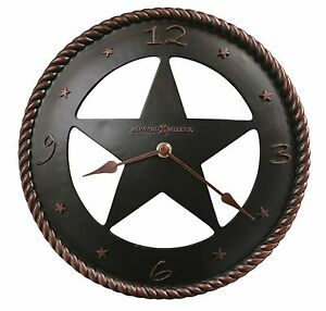 wall clock 11 decorative round western cowboys rodeo