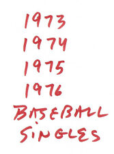 You Pick Any - 1.00 EA Card W/stars- From 1973 1974 1975 1976 Topps Baseball Set
