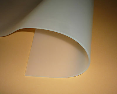 LEBENSMITTELECHT Silikon-Platte 60 Shore FDA-konform transparent Dicke: 3mm