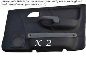 BLACK-STITCHING-2X-FRONT-DOOR-CARD-COVERS-FITS-FORD-SIERRA-SAPPHIRE-RS-COSWORTH