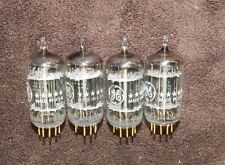 NOS QUAD 5687WA GOLD PIN GENERAL ELETRIC TUBES = 6N30 / E182CC / 7044 / 7119 NEW