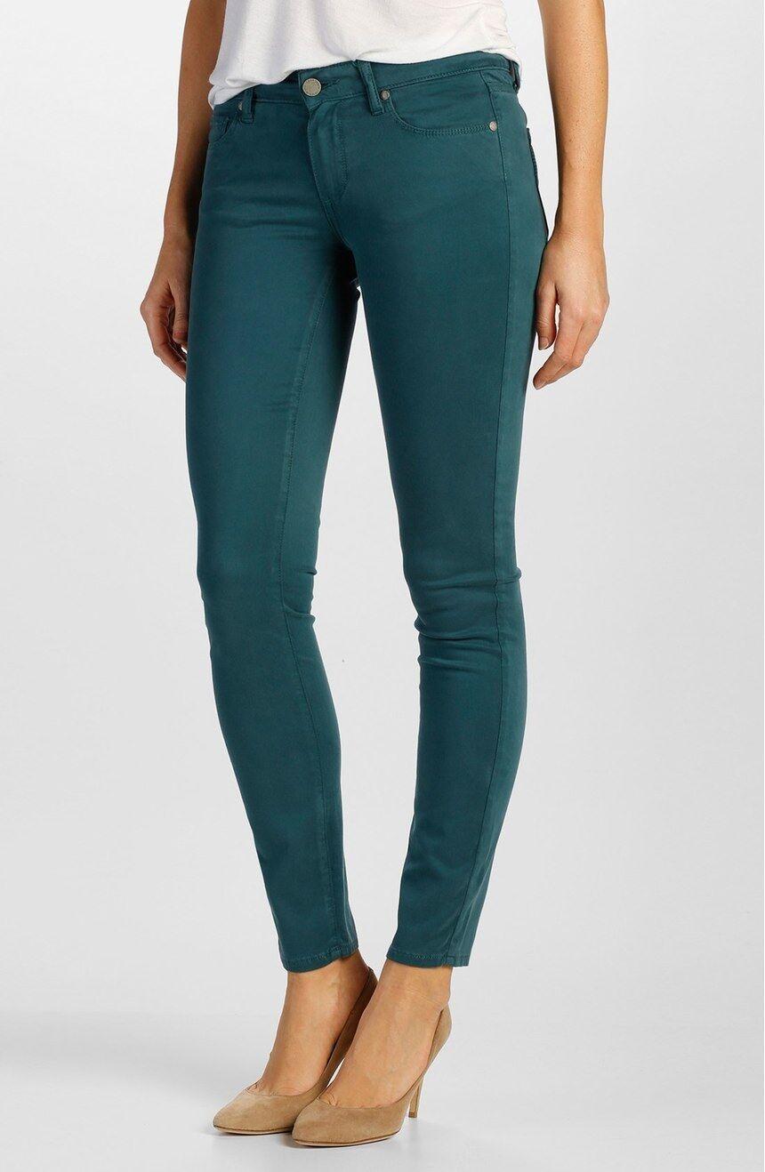 189 NWT PAIGE DENIM 24 Transcend Verdugo Ultra Skinny Jeans Faded Pine Jeans