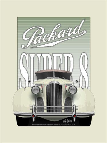 1940 Packard Super 8 car poster Art