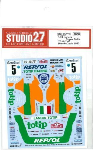 STUDIO27 1/24 Lancia Super Delta Auto #5 Mc 1993 Per Hasegawa DC1118 Adesivi