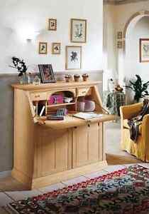 Vienna Sekretär Pinie massiv Landhausmöbel Schreibtisch mit ...