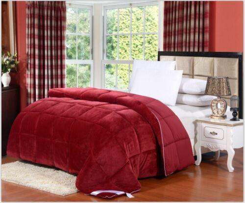 Queen Comforter Burgundy Red Luxury Down Alternative Hypoallergenic Full