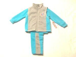 NWT-Girl-039-s-Infant-3-pc-Sweatshirt-Vest-amp-Pant-Outfit-Set-sz-12-months