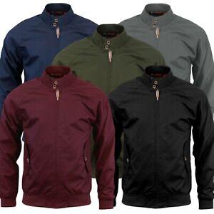 Para-hombre-Harrington-Jacket-Vintage-Clasico-Retro-Semental-Cremallera-Abrigo-Bomber-decada-de-1970