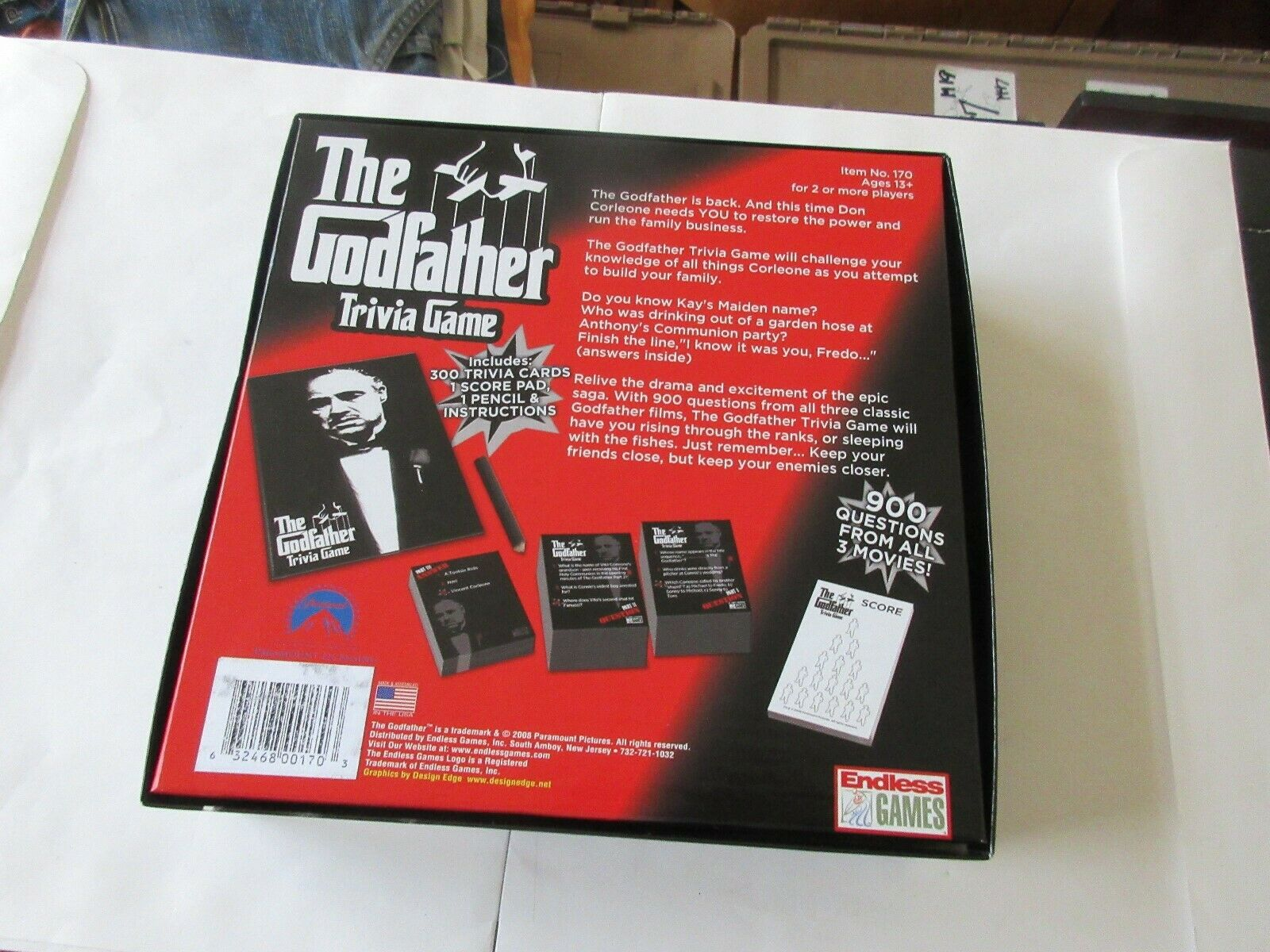 """The """"Godfather"""" Trivia Game , From Endless Games"""
