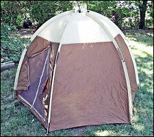 Vintage 1970's Brown Nylon American Camper Sunshine 2 Person Tent w/Rain Fly 7x6