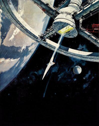 2001 A SPACE ODYSSEY TEXTLESS VINTAGE MOVIE POSTER  FILM A4 A3 ART PRINT CINEMA