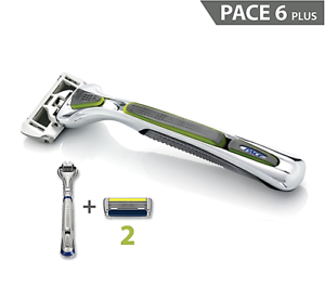 Dorco-Pace-6-Plus-Six-Blade-Razor-SXA5000-System-Trimmer-1-Handle-2-Cartridge