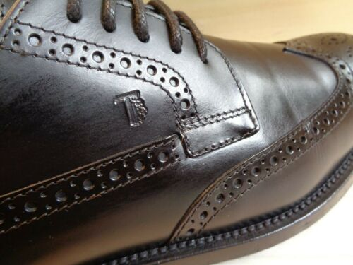 nera Pelle In Uk 7 Tod's Pebble 5 Sole Italy Derby Wingtip 5 Made 41 Brogue O0HxCwqY